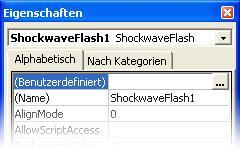 PowerPoint Shockwave-Objekt-Eigenschaften