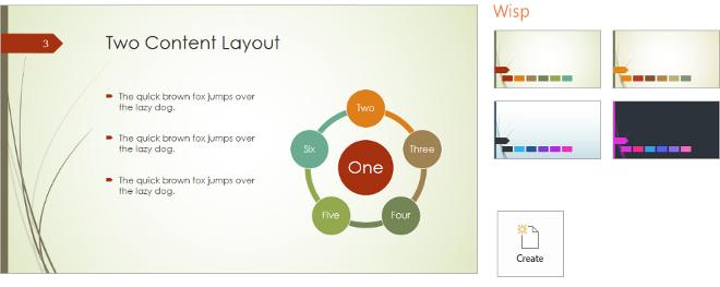 Wisp Theme Family PowerPoint 2013