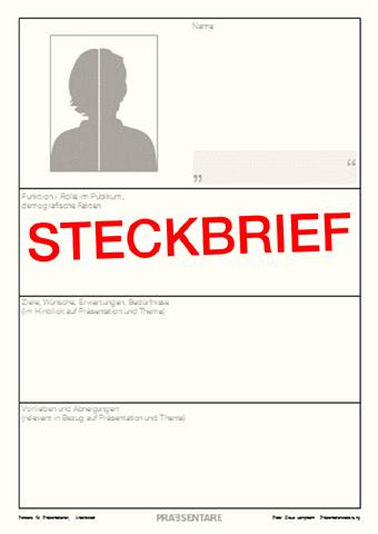 Steckbrief: Persona-Vorlage zum Ausfüllen