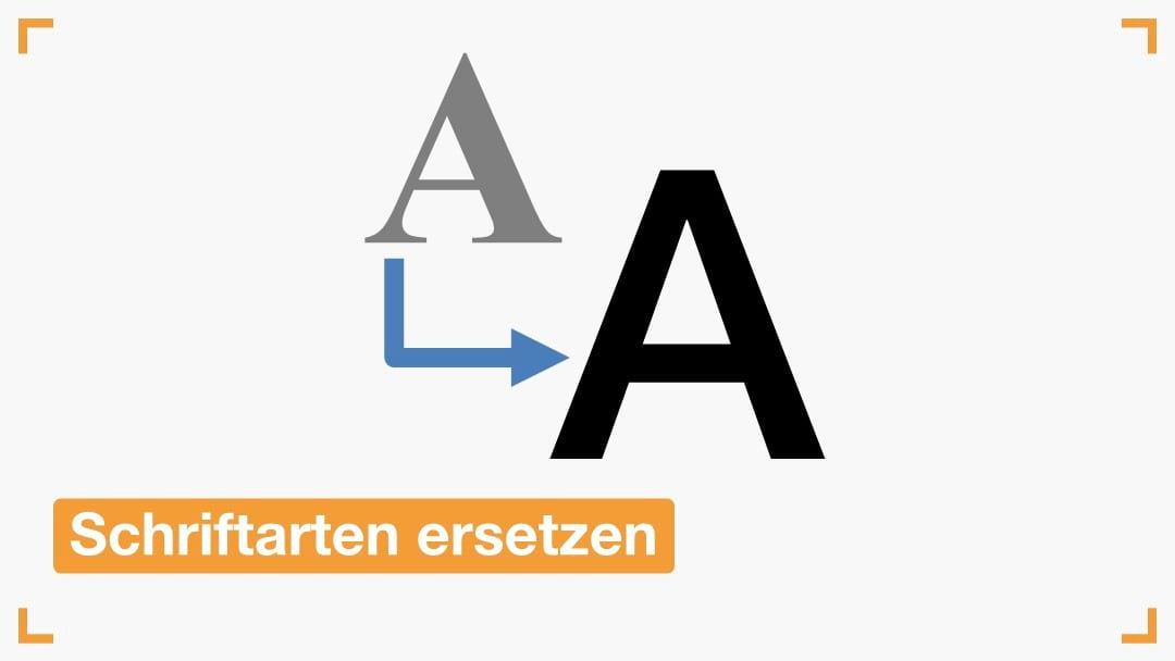 Schriftarten in PowerPoint ersetzen